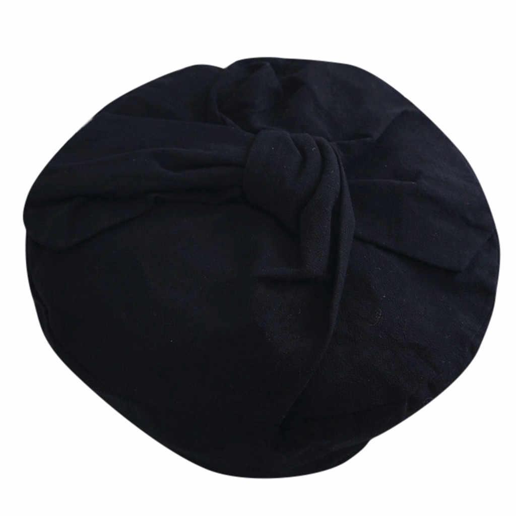 جديد الأزياء الإناث قبعات بيريه لطيف القوس عقدة شريط نمط الفراء القطن كابل قبعات بيريه ريترو ستايل في الهواء الطلق الكروشيه قبعة كاب