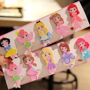 1pcs Disney girl hair clip cartoon princess hairpin kid hair Accessories clip cartoon princess hairpin doll clip hairpin
