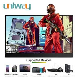 Image 5 - Uniway 13.3 אינץ נייד צג עבור סוג c hdmi עבור מחשב נייד מחשב טלפון xbox מתג ps3 ps4 משחקים צג