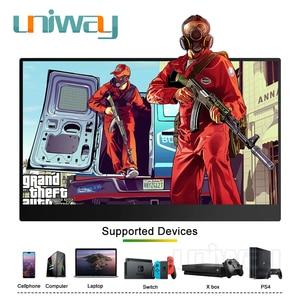 Image 5 - Uniway 13,3 inch tragbare monitor für typ c hdmi port für laptop computer telefon xbox schalter ps3 ps4 gaming monitor