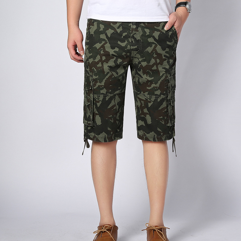 B370 Arrival Men's Clothing 100% Cotton Camouflage Loose Five-point Shorts Military Army Field Spring Summer Brand Shorts