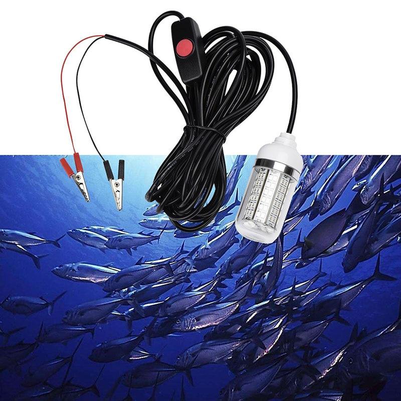 La pêche 12V attire les lumières LED la lumière sous-marine des leurres de poisson lampe de détecteur avec le commutateur imperméable d'ip68, attire le Krill de calmar de crevettes
