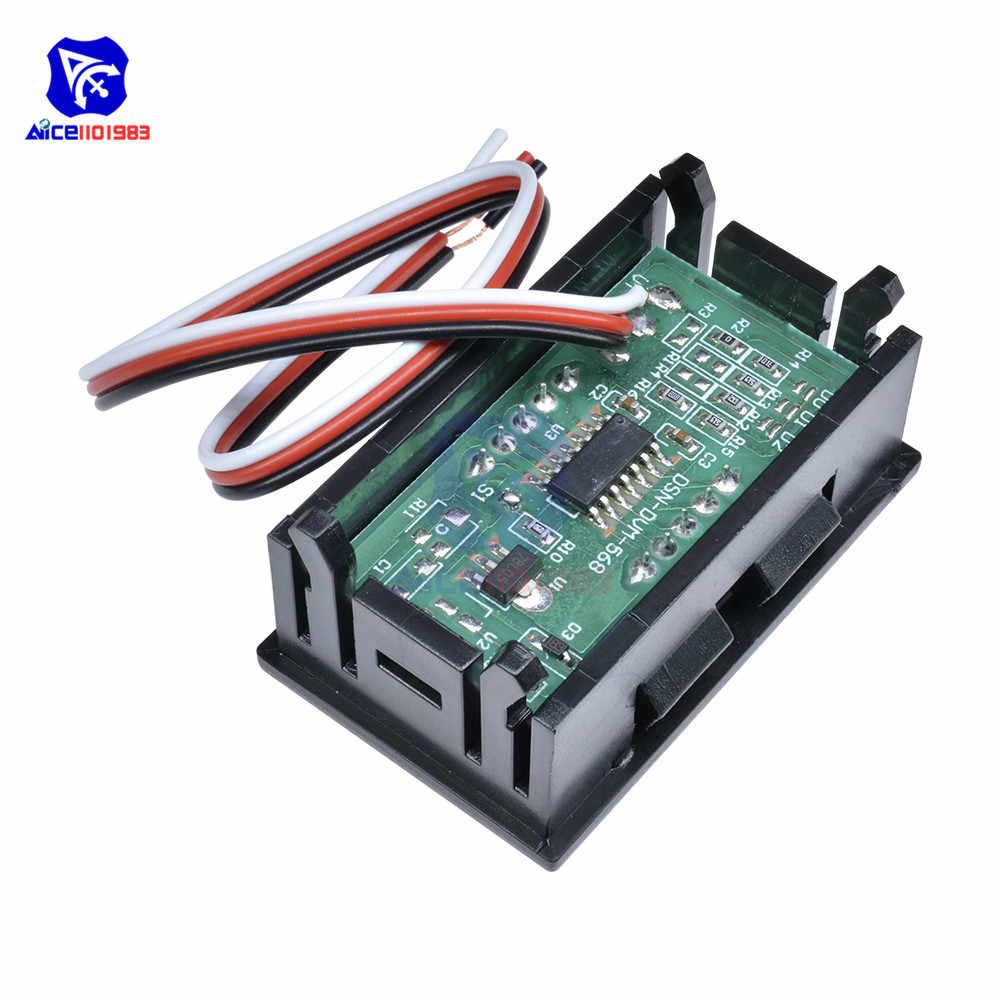 الأحمر/الأزرق/الأخضر LED لوحة الجهد متر البسيطة LED شاشة ديجيتال الفولتميتر DC 0V إلى 99.9V فولت اختبار