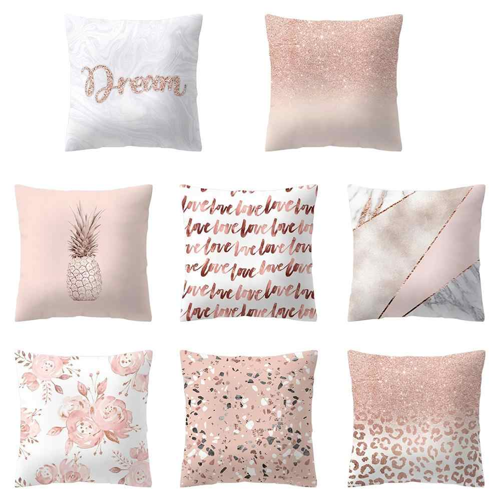 New Pillow Cover Glitter Pineapple Love Design Pillow Case Bedroom Bedding Sets Square Pillowcase Removable Pillow Cover