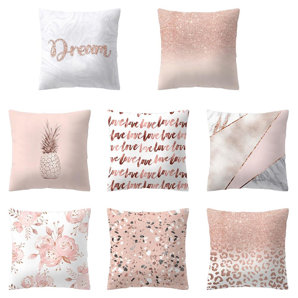 New Pillow Cover Nordic  Pineapple Love Design Pillow Case Bedroom Bedding Sets Square Pillowcase Removable Pillow Cover
