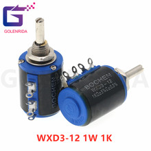 2 pces WXD3-12 1w 1k ohm WXD3-12-1W 5 anel multi-círculo precisão fio-ferida potenciômetro