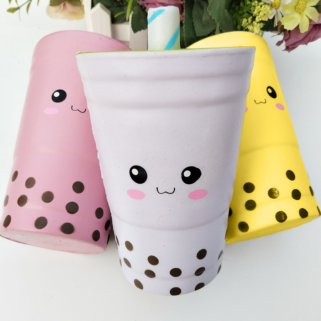 Jumbo Pearl Milk Tea Scented Slow Rising Squeeze Toy Stress Relief Scented Squishies Toys Giant Exquisite Kid Gift Wholesale