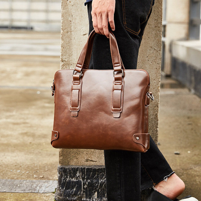 $ US $30.91 2020 Vintage Fashion Women Handbags Casual Shoulder Messenger Bags New Design A4 Briefcase Men Laptop Bag Bolso Hombre Sac Homme