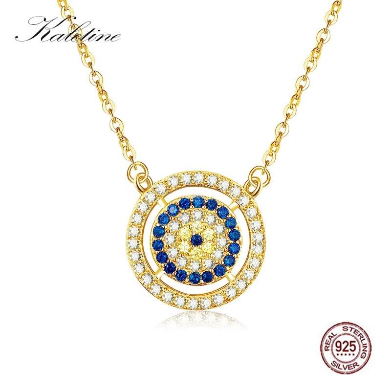 925 Sterling Silver Womens Stylish Elegant Evil Eye Bead Stone Necklace