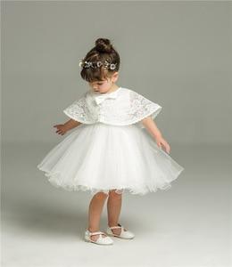 Recém-nascido vestido de natal branco para o batismo do bebê menina rendas vestido de batismo da criança 1st festa aniversário trajes infantis
