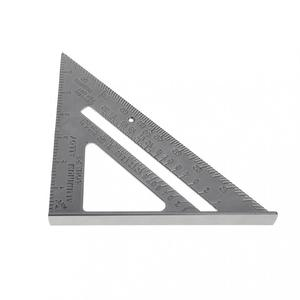 Image 3 - 7 Inch Aluminium Alloy Metal Right Angle Triangle Ruler with 0.1 Accuracy and 1 Scale Value for Industrial Measuring Tool