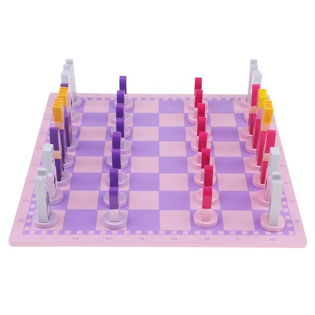 Jeu d'échecs pour enfants rose 6