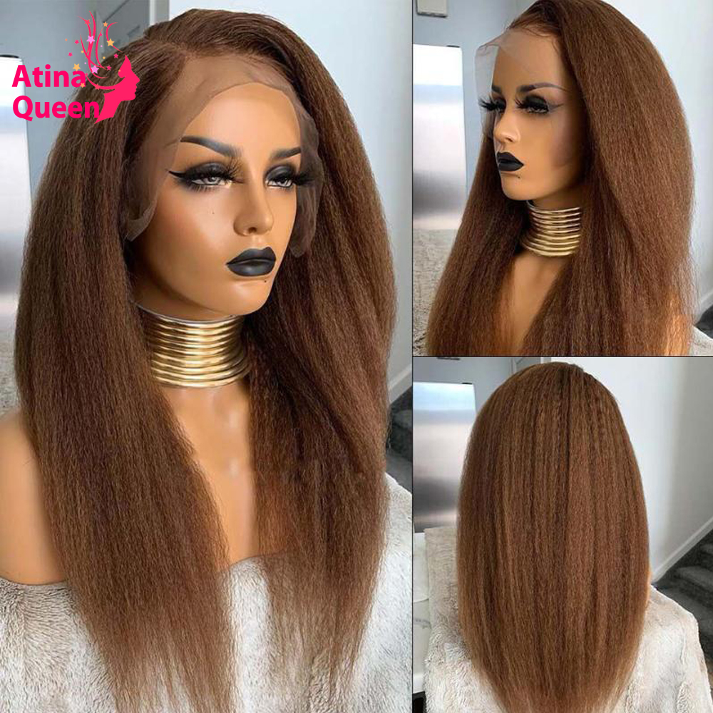 360 hd koronki przodu peruka przezroczysty miód blond Preplucked perwersyjne prosto koronki przodu włosów ludzkich peruka czarne kobiety Remy koronkowa peruka