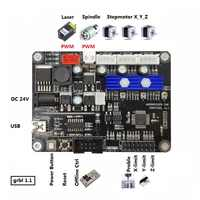 3 Axis GRBL 1.1J CNC Router Machine Laser Engraver Control Board,DIY USB Port Controller Card