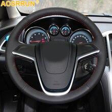 Для Opel Mokka Astra G H Zafira A автомобильные аксессуары кожаные ручные Прошитые Чехлы рулевого колеса автомобиля