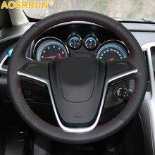 Cubierta de cuero para volante de coche, accesorios para Opel Mokka Astra G H Zafira A, cosido A mano, cubiertas de volante de coche
