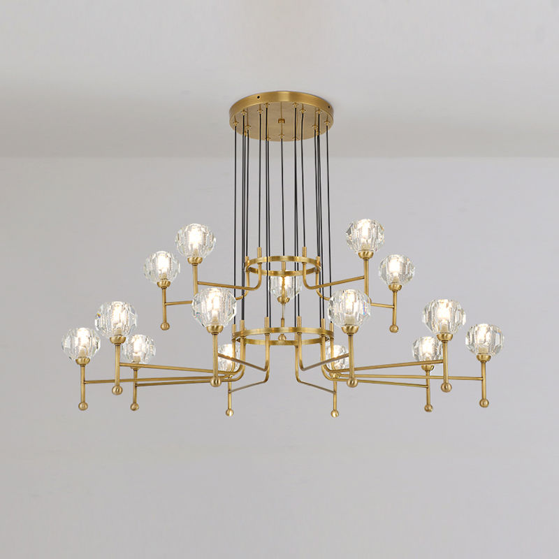 Hall Chandelier Simple Modern Home Bedroom Dining Room Chandelier Creative Personality Lighting Light Luxury Crystal LED Lamps
