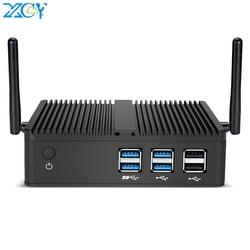 Мини-ПК XCY, Intel Core i7 4500U i5 4200Y i3 4010U DDR3L ОЗУ mSATA SSD WiFi гигабитный LAN безвентиляторный HDMI VGA 6xusb HTPC Windows 10