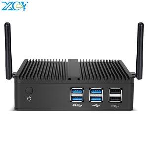 XCY Mini PC Windows 10 Intel Core i3 4010Y i5 4200Y i7 4500U Dual Cores Fanless Micro Desktop PC HDMI VGA 6*USB WiFi Nettop HTPC(China)