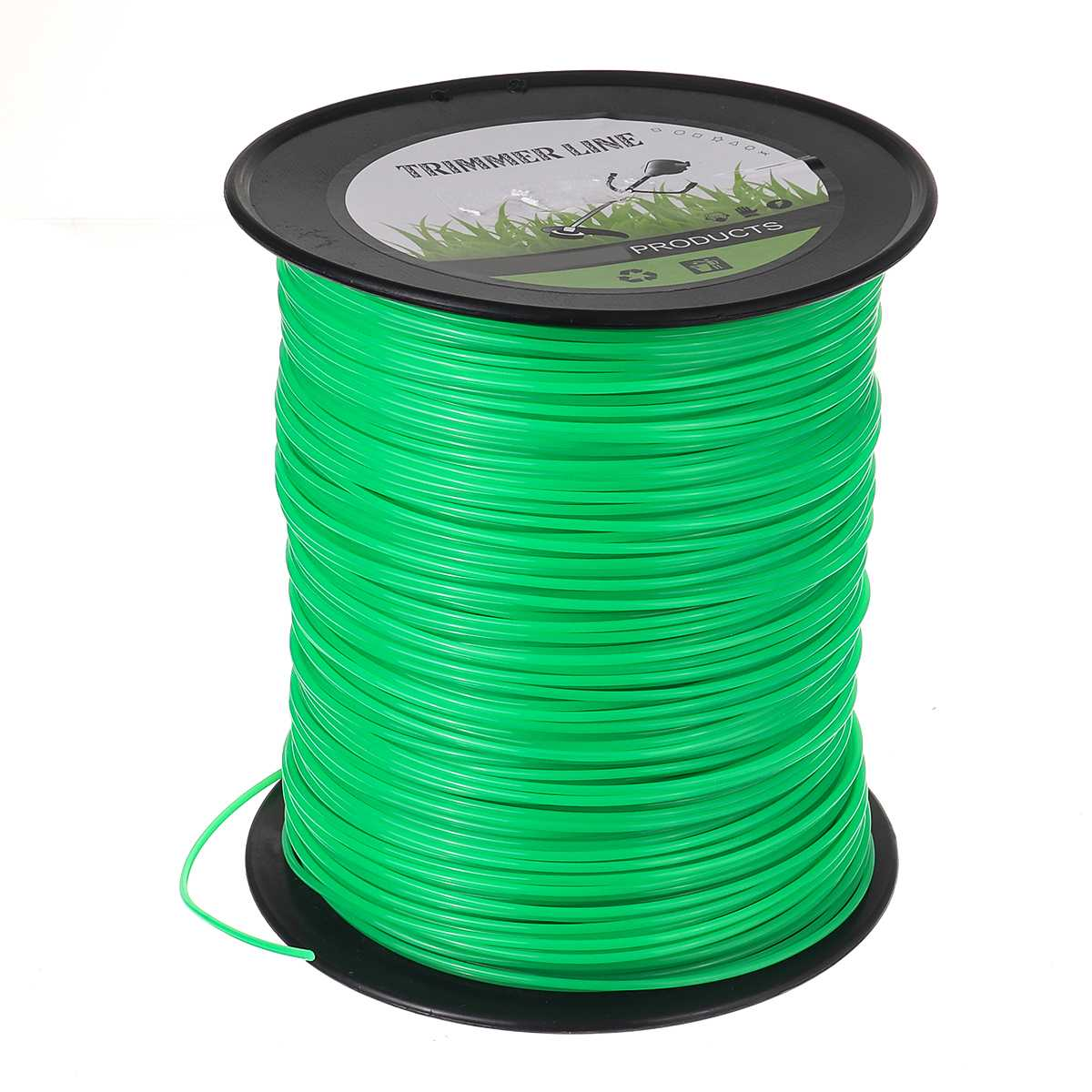 Rope Long Trimmer 2 Head Line Trimmer Round Grass Mowing Nylon 4mm Nylon 370m Roll Grass Strimmer Round Line Rope Brushcutter