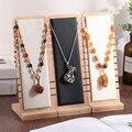 Подвеска-витрина для ювелирных изделий из массива бамбука, витрина для ожерелья, длинная цепочка, органайзер (доска для ожерелья)