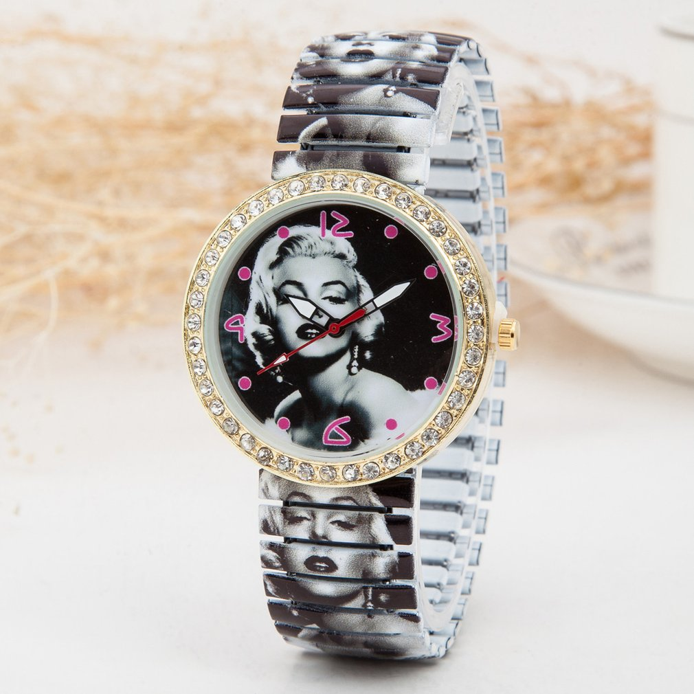 New Women Watches Pretty Marilyn Monroe Ladies Watch Best Fashion Casual Simple Quartz Round Stainless Steel Leather Watches