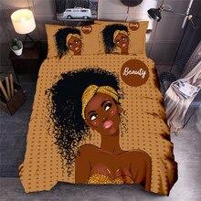 Африканские женские набивные комплекты постельного белья, этнические африканские пододеяльники, набор, королева, король, пододеяльник, постельное белье