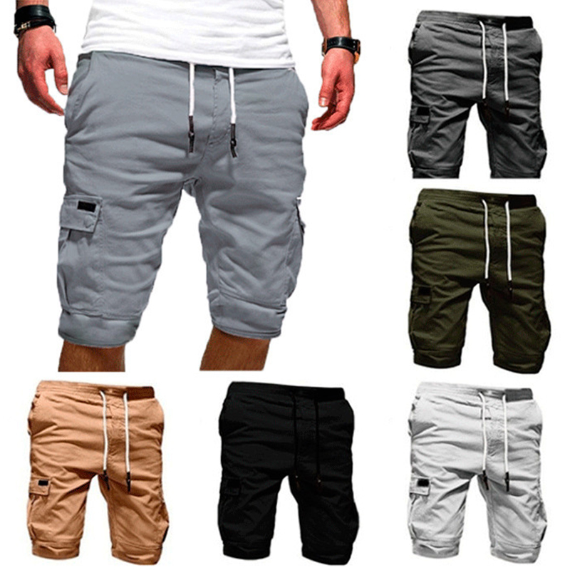 Men Casual Multi-pocket Shorts Lightweight Quick Dry Breathable Cargo Shorts Hh88
