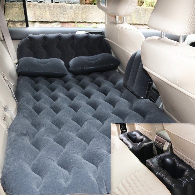 Soft Durable Travel Bed Large Size Car Back Seat Cover Car Air Mattress Outdoor Camping Inflatable Mattress Air Bed Car Interior