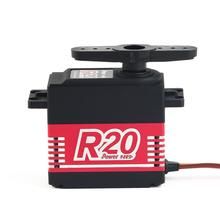 POWER HD R20 Alloy Gear Digital Coreless High Voltage Servo with 20kg High Torque for RC Remote Control Car Boat Ship 100% original power hd digital servo hd 1235mg high voltage 40kg for 1 5 car can work for futaba jr free shipping