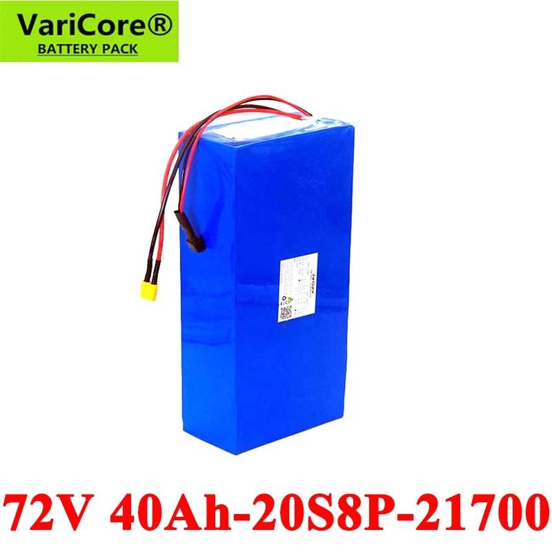 VariCore-Batería de bicicleta eléctrica, alta potencia, 74V, 40Ah, 20S8P, 1500W, 2000W, 21700 72V, protección BMS