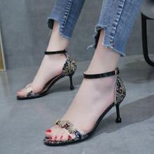 цена на Women's Crystal Diamond High Heels Peep Toes Sandals Lady Summer Shoes Sexy High Heel Rhinestone Sandals