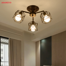 Retro Vintage Industry American Country Iron Cage Ceiling Plate Light Balcony Kitchen Dinning Room Modern Home Decor Lighting retro vintage industry american country fan edison ceiling plate light balcony kitchen dinning room modern home decor lighting