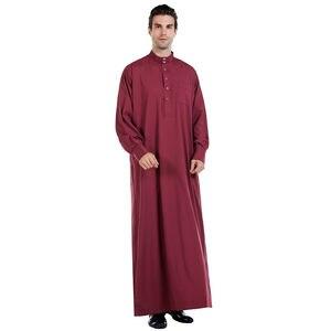 Image 5 - Hommes vêtements Robe à manches longues saoudien arabe Thobe Jubba Thoub homme Daffah caftan moyen orient islamique Thawb Jubba Thobe Robe musulmane