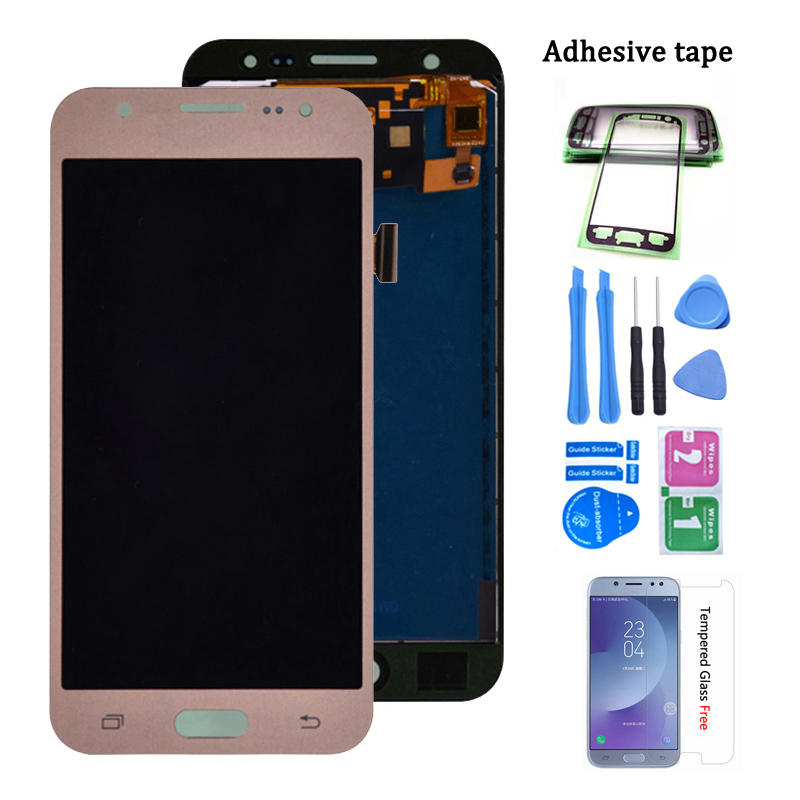For Samsung GALAXY J5 <font><b>J500</b></font> J500F J500FN J500M J500H 2015 LCD <font><b>Display</b></font> With Touch Screen Digitizer Assembly Adjust Brightness image