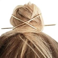 Палочка для волос Персонализированная 2020 новинка аксессуары для волос Бохо для волос Прибытие металлическая позолоченная X образный держа...