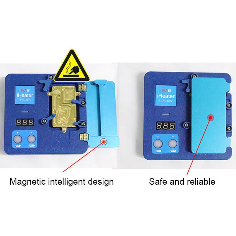 Tools : JC iHeater Intelligent Desoldering Station Digital Thermostat  Heating Plate for Phone 11 Pro MAX X XS MAX Motherboard Fixture