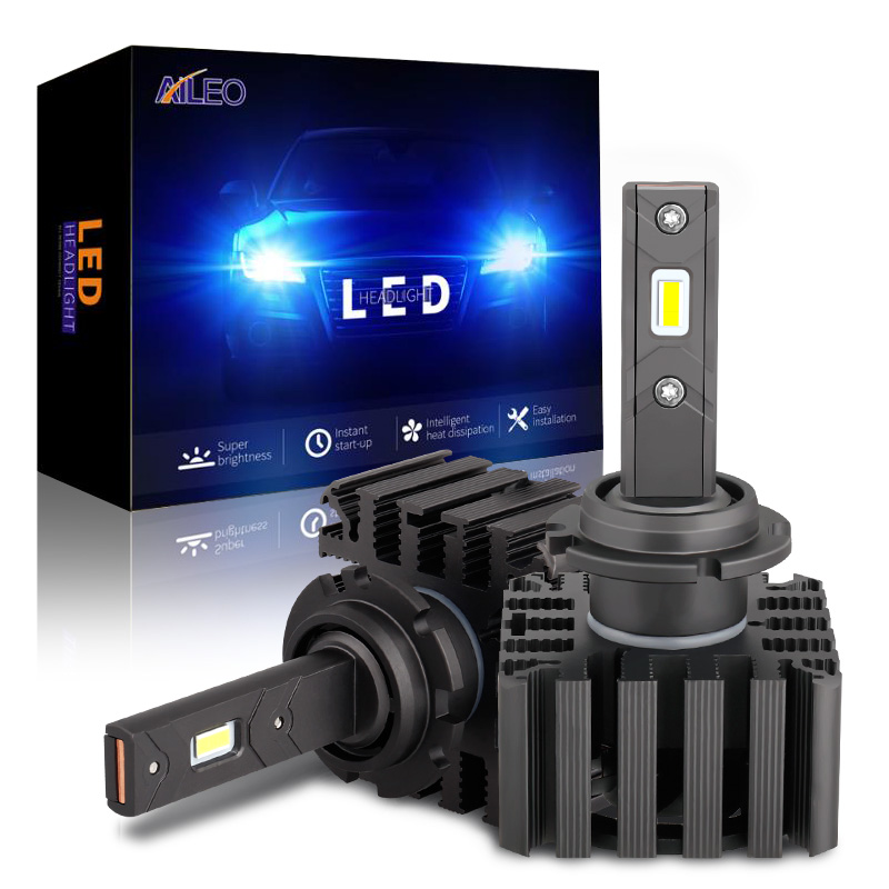 AILEO 1:1 High Power 70w 12000lm 6000k Auto Car Headlights Bulb Replacement D1S LED D3S Replace Car HID Headlights With CSP Lens