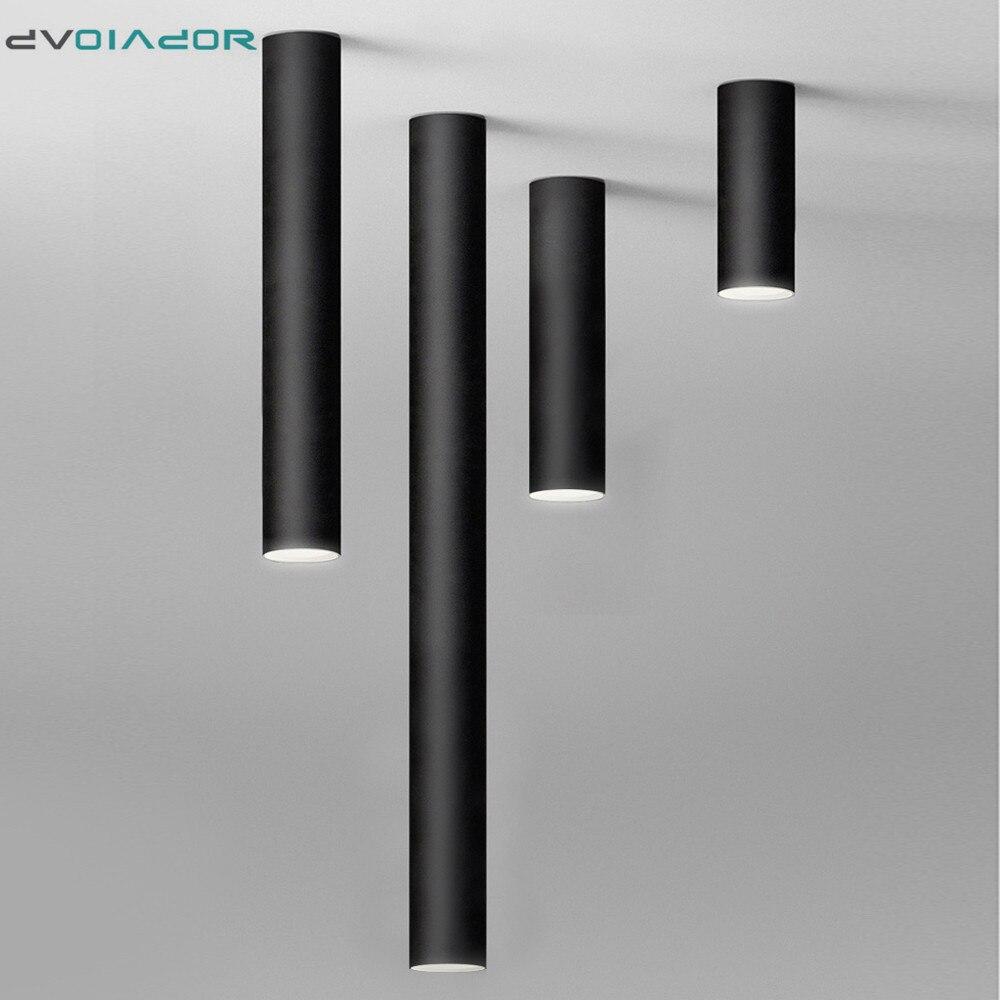 Led Downlight uzun tüp yüzeye monte Led Spot Modern alüminyum Spot ışık kapalı oturma odası mutfak mağaza ofis tavan lambası