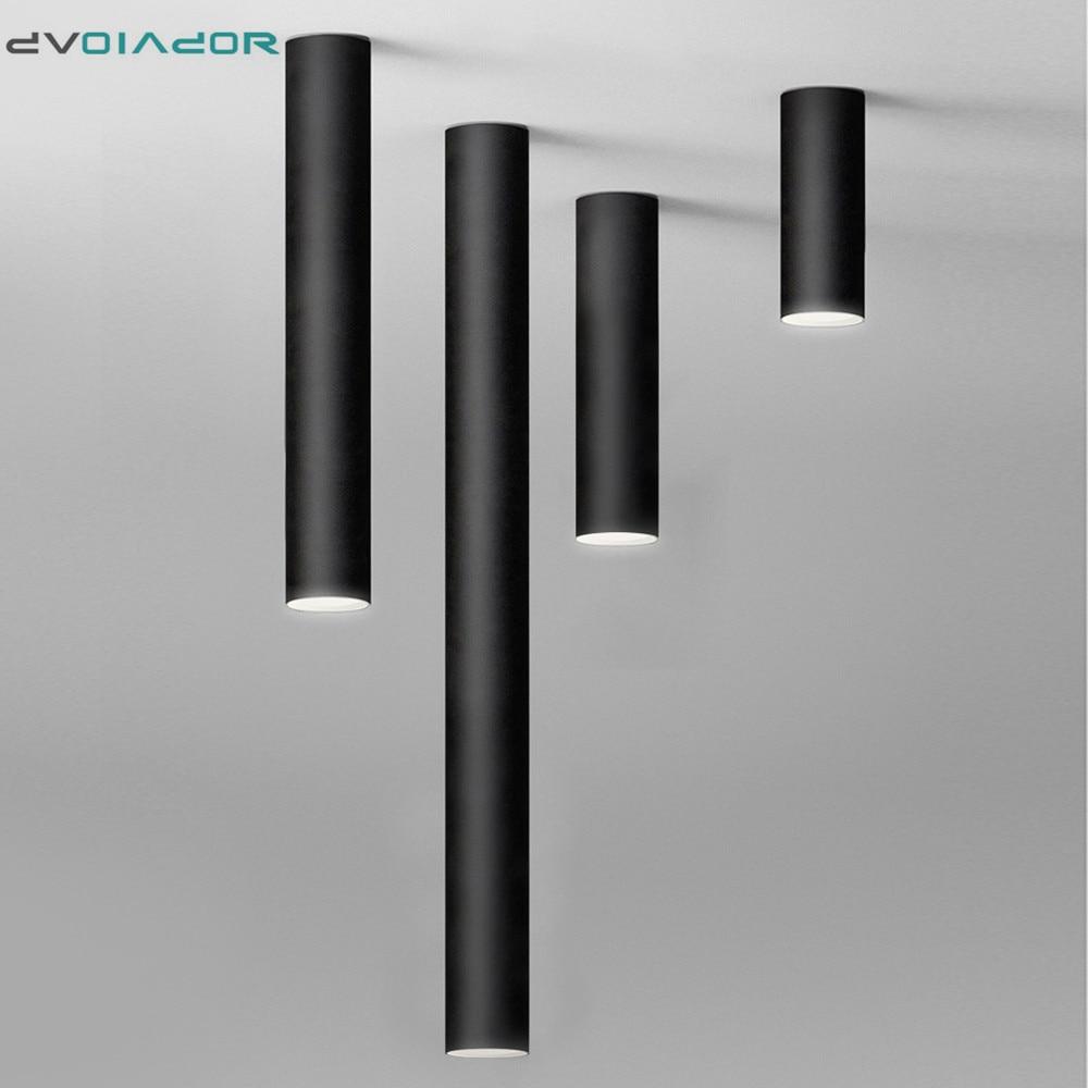 Led typu Downlight długa rurka montowane na powierzchni Led Spot nowoczesne aluminiowe światło punktowe kryty salon kuchnia sklep biurowy lampa sufitowa