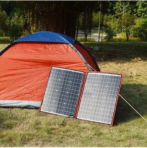 Image 5 - Dokio 브랜드 100w(50W x 2pcs) 여행 및 보트 및 rv에 대 한 유연한 접이식 모노 태양 전지 패널 100W 고품질 휴대용 태양 전지 패널 중국