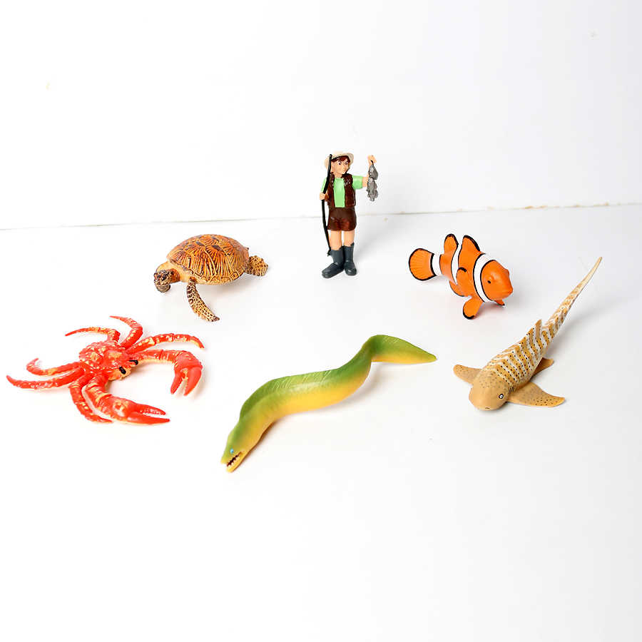 Modelos de Ação Realista Plástico oceano Criaturas Subaquáticas Marinha Presente Coleção de Ação Figuras de Brinquedo Educativo para Crianças para crianças