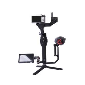 """Image 2 - Plaque dextension inférieure de cardan de caméra EIFFEL pour moniteur de montage, microphone, lumière LED 1/4 """"3/8"""" trou de vis pour grue Ronin S/SC 2"""
