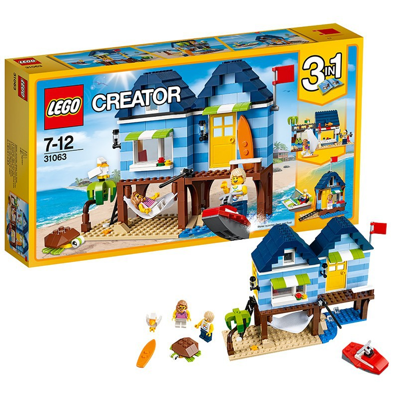 LEGO Creative Flexible Series 31063 Waterfront Holiday House Building Blocks Toy image