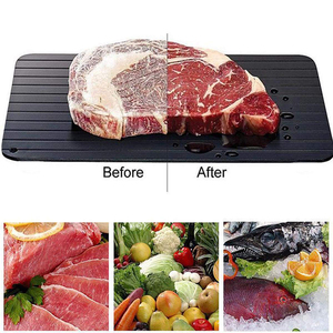 Meat Fast Defrosting Tray Thaw for Frozen Food Magic Quick safety Defrosting Plate Board Defrost Kitchen Cook Gadget Tool(China)