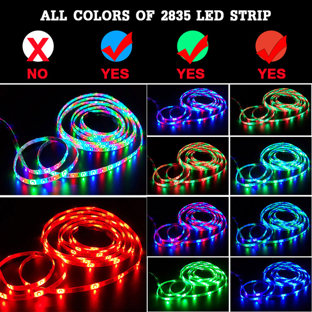 RGB LED Strip Light SMD 2835 5M Waterproof RGB Tape DC12V Ribbon diode led Strips Light Flexible Stripe Lamp IR WIFI Controller