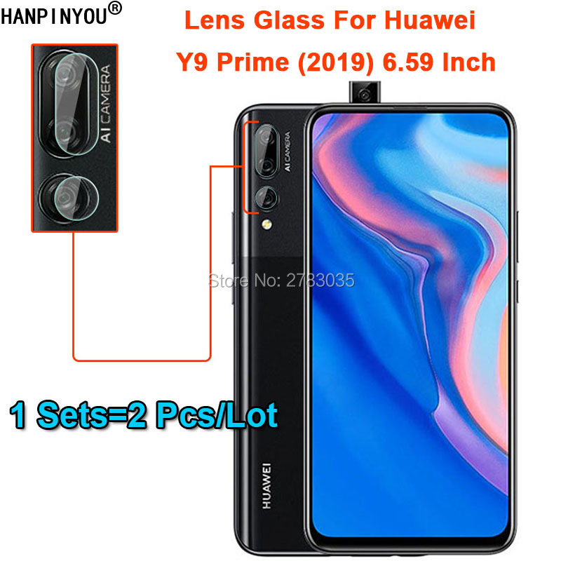 "1Set=2Pcs/Lot For Huawei Y9 Prime (2019) 6.59"" Ultra Slim Back Camera Lens Protector Rear Camera Lens Cover Tempered Glass Film"
