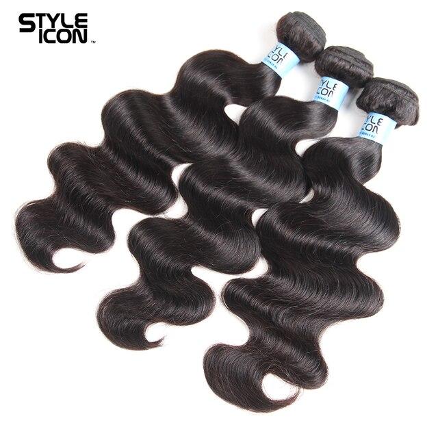 Ciało fala wiązki ludzkich włosów z zamknięciem zamknięcie koronki włosy brazylijskie Remy ciało fala 3/4 wiązki z zamknięciem 30 cali rozszerzenie