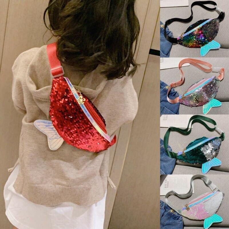Newest Kids Cute Sequin Small Bag Purse Shoulder Crossbody Handbag Coin Purses For Kids Children