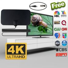 Indoor 4K 20DB High Gain HD TV DTV Box Digital TV Antenna 200 Miles Booster Active Indoor Aerial HD TV Antenna DVB-T2